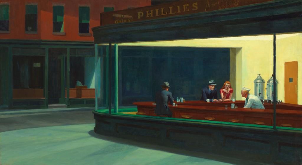 Nighthawks Edward Hopper Le Miau Noir